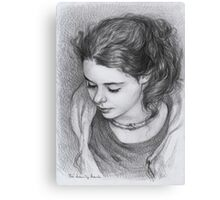 Portrait of young girl Canvas Print