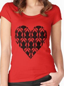 Sherlock Wallpaper Love Women's Fitted Scoop T-Shirt