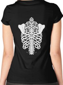 Shoulders and Spine Celtic Design White Women's Fitted Scoop T-Shirt