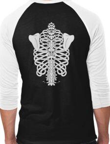 Shoulders and Spine Celtic Design White Men's Baseball ¾ T-Shirt