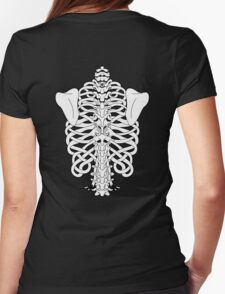 Shoulders and Spine Celtic Design White Womens Fitted T-Shirt