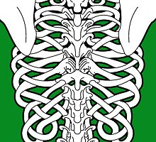 Shoulders and Spine Celtic Design White by Sookiesooker