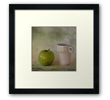 With green apple Framed Print