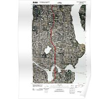 USGS Topo Map Washington State WA Seattle North 20110422 TM Poster