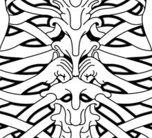 Shoulders and Spine Celtic Design White Sticker