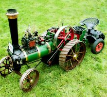 Miniature Vintage Traction Engine  by Ian Jeffrey