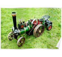 Miniature Vintage Traction Engine  Poster