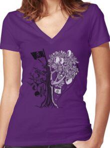 UN-0002 Women's Fitted V-Neck T-Shirt