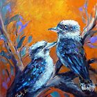 Conversing kookaburras by Ivana Pinaffo