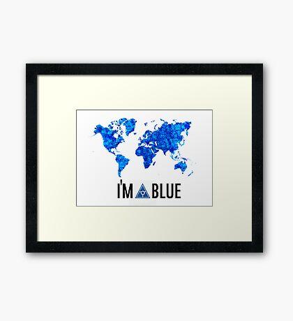 I'm blue secret world tshirt Framed Print
