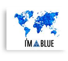 I'm blue secret world tshirt Canvas Print