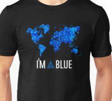I'm blue illuminati tshirt secret world black Unisex T-Shirt