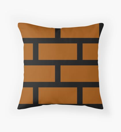 Mario Brick Block Throw Pillow
