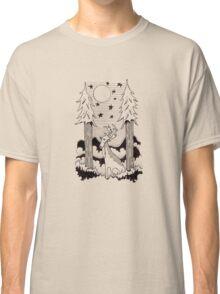 Lone Deer Under Starry Night Classic T-Shirt