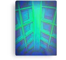 WINDOWS IN BLUE GREEN AQUAMARINE Metal Print