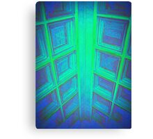 WINDOWS IN BLUE GREEN AQUAMARINE Canvas Print