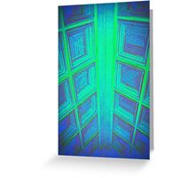 WINDOWS IN BLUE GREEN AQUAMARINE Greeting Card