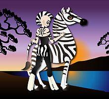 Twisted - Wild Tales: Etana and the Zebra by Lauren Eldridge-Murray