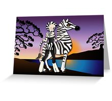 Twisted - Wild Tales: Etana and the Zebra Greeting Card