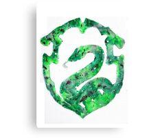 Slytherin House Crest Canvas Print
