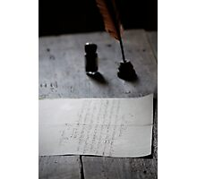 Parchment and Quill Photographic Print