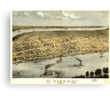 Panoramic Maps Cairo Illinois 1867 Canvas Print