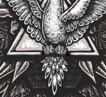 Spirit Dove Trinity Geometry Mandala Sticker