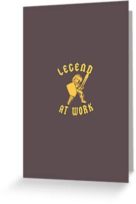 Zelda Legend At Work Gold and Brown iPhone Case by TalkThatTalk