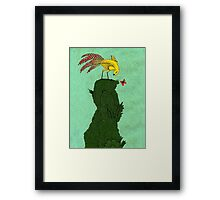 Mythical bird on Mountain top Framed Print