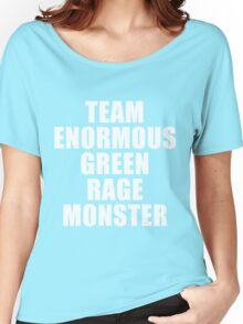 Team Enormous Green Rage Monster Women's Relaxed Fit T-Shirt