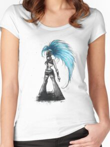 Rainbow Punk: Cybernetic Blue Women's Fitted Scoop T-Shirt