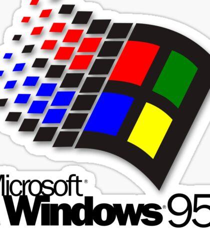 WINDOWS 95 (white/no clouds) Sticker