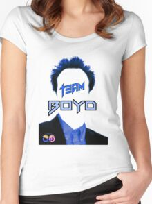Team Boyd Blue Women's Fitted Scoop T-Shirt