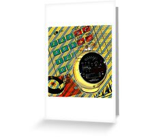 geek nerd alarm clock calculator retro Greeting Card