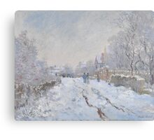 Snow Scene at Argenteuil by Claude Monet Canvas Print