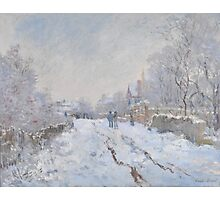 Snow Scene at Argenteuil by Claude Monet Photographic Print