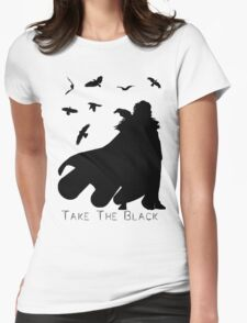 Take The Black Womens Fitted T-Shirt