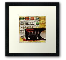 funky geek nerd shortwave radio retro calculator  Framed Print