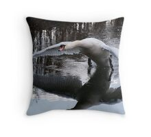 Wingspan and reflection Throw Pillow