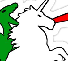 Dinosaur Riding Unicorn Sticker