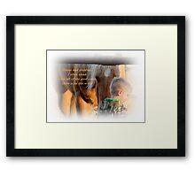 Boys and Horse Sence  Framed Print