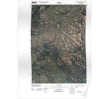 USGS Topo Map Washington State WA Lost Horse Plateau 20110425 TM Poster