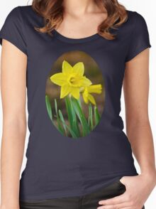 Beautiful Daffodils Women's Fitted Scoop T-Shirt