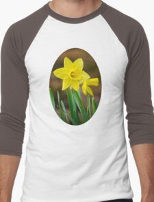 Beautiful Daffodils Men's Baseball ¾ T-Shirt