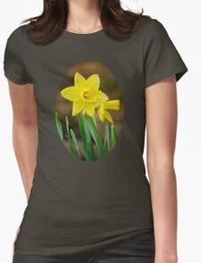 Beautiful Daffodils Womens Fitted T-Shirt