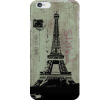 Paris Retro Postcard iPhone 5 Case / iPhone 4 Case  / Samsung Galaxy Case  iPhone Case/Skin