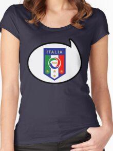 Italy Soccer / Football Fan Shirt / Sticker Women's Fitted Scoop T-Shirt