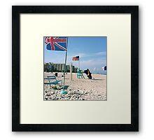 International beach Framed Print