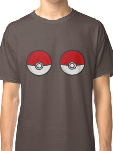 POKEBOOBS - Ladies Pokeball Shirt Classic T-Shirt