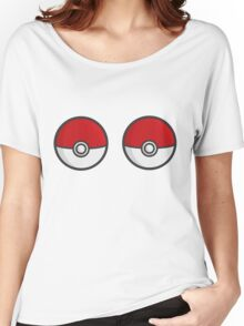 POKEBOOBS - Ladies Pokeball Shirt Women's Relaxed Fit T-Shirt